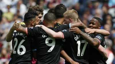 Manchester City Pesta Gol ke Gawang West Ham di Laga Perdana