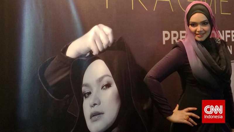 Hamil 4 Bulan, Siti Nurhaliza Tetap Produktif di Studio