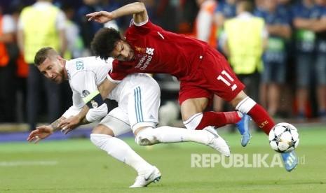 Salah Disebut tidak Marah pada Ramos