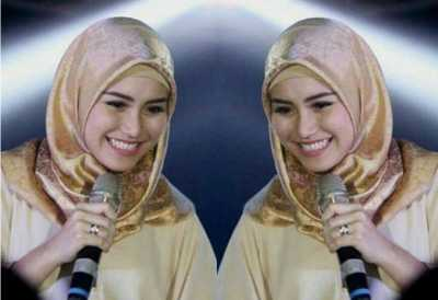 Kenakan Hijab dari Ria Ricis, Ayu Ting Ting Tampil Mempesona