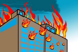 Petugas berhasil padamkan api di Gedung Nusantara III DPR