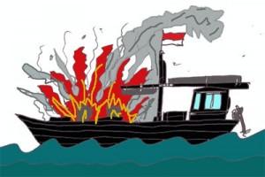 Lima kapal nelayan Juwana terbakar