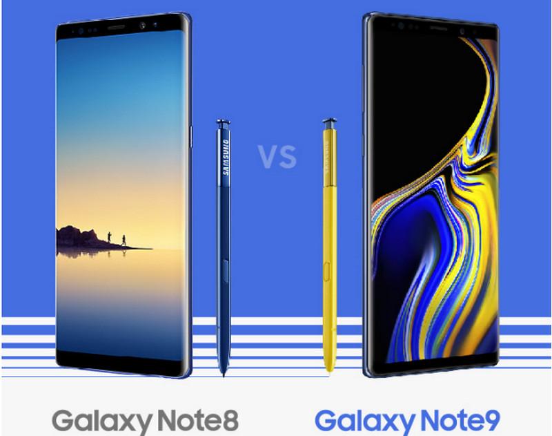 Perbandingan Spesifikasi Galaxy Note9 vs Galaxy Note8