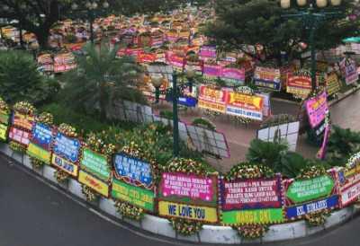 Jika Diuangkan, Karangan Bunga untuk Ahok Senilai Setengah Miliar
