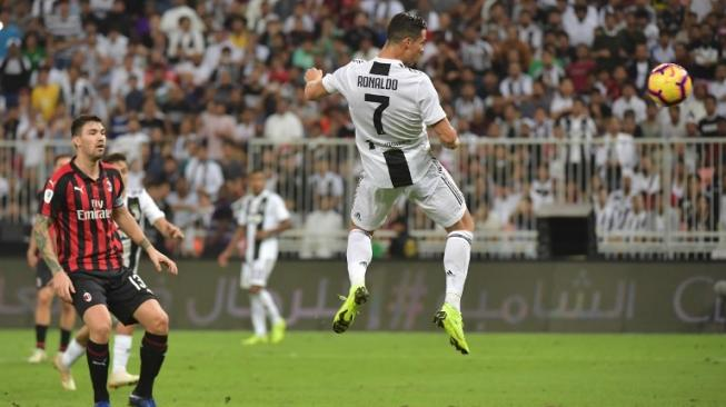 Juventus 1 vs 0 Milan: Ronaldo Persembahkan Gelar Pertama untuk Nyonya Tua
