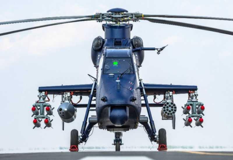 Helikopter Tempur Buatan China Terbang Perdana