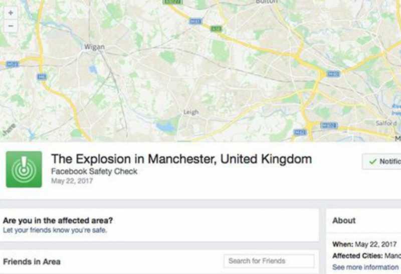 Facebook Aktifkan Safety Check di Lokasi Konser Ariana Grande