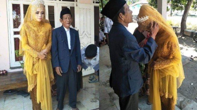 Kakek 83 Tahun Nikahi Wanita 27 Tahun di Tegal, Fotonya Viral