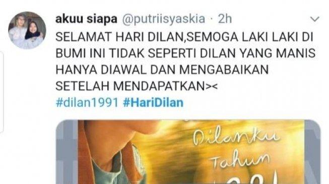 Tagar #HariDilan Ceriakan Lini Masa Twitter