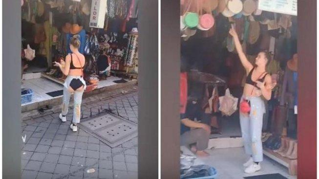 Bule Cantik Jadi Viral usai Pakai Celana Jeans yang Robeknya di Bokong