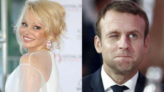 Pamela Anderson Undang Presiden Prancis Makan di Restoran