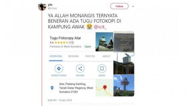 Warganet Kaget Ada Tugu Fotokopi di Padang, Ini Alasan Dibangunnya