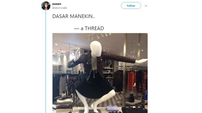 Deretan Pose Kocak Mannequin Ini Tak Kalah dengan Supermodel