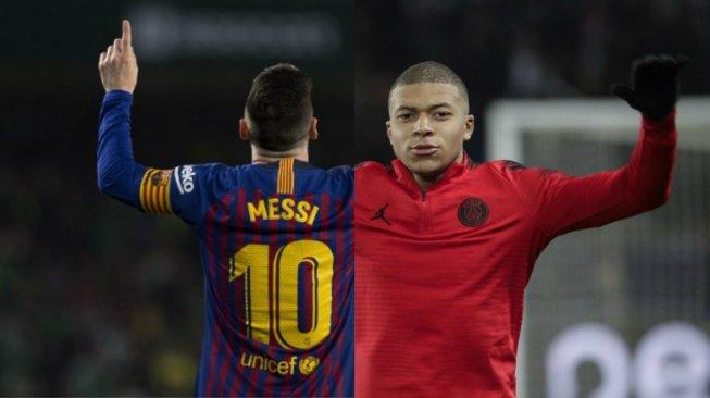 Hanya Mbappe yang Bisa Salip Messi di Kancah Eropa