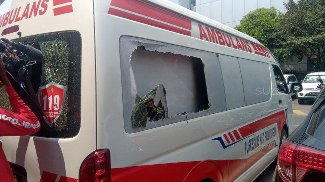 Disebut Bawa Batu Anak STM, Begini Penampakan Ambulans Milik Pemprov DKI