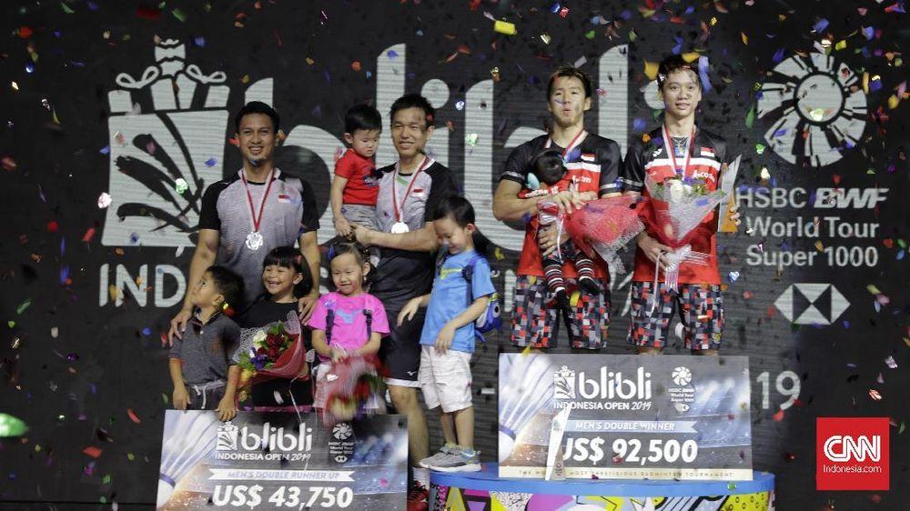 Kevin/Marcus dan Ahsan/Hendra Kuasai Peringkat Dunia BWF