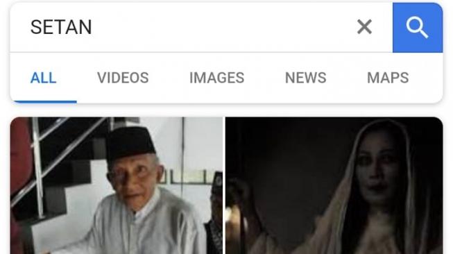 Ketik SETAN di Google, yang Muncul Foto Amien Rais