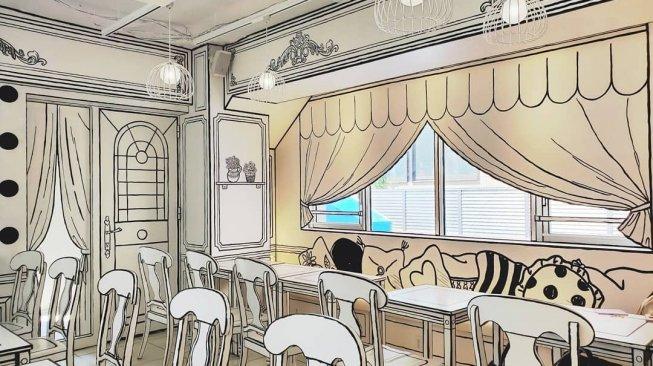 Awas Tertipu, Kafe di Tokyo Ini Punya Interior Dua Dimensi