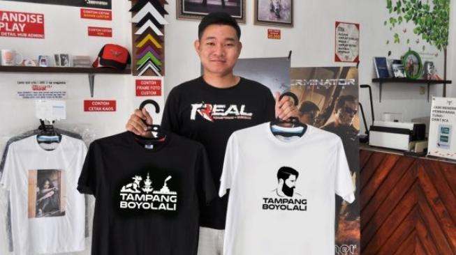 Harga Kaus Tampang Boyolali Dibanderol Rp 100.000