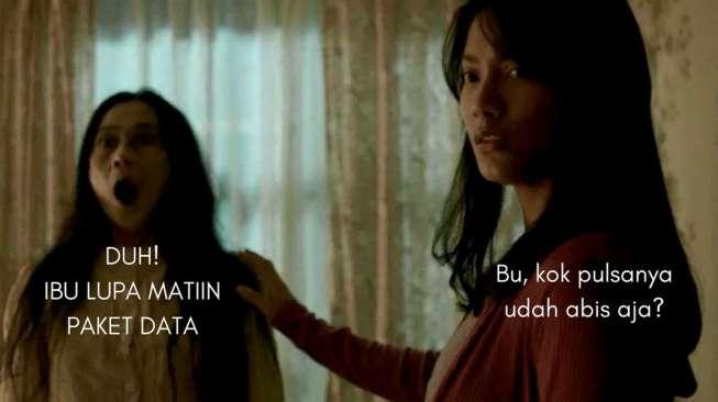 Meme #IbuSampeKaget di Film Pengabdi Setan Ini Bikin Ngakak