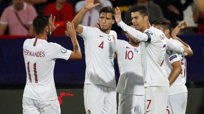 Hasil Kualifikasi Piala Eropa 2020: Portugal Gasak Serbia 4-2