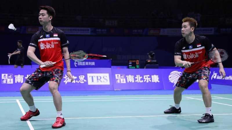 Hasil Indonesia Open 2019: Kevin/Marcus Lolos ke Babak Kedua