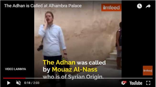 Laki-Laki Suriah Azan di Istana Kuno Spanyol Jadi Viral, Kenapa?