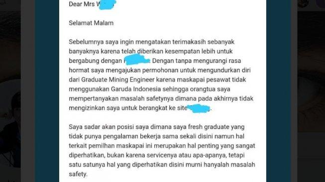Perjalanan Dinas Tak Pakai Maskapai Garuda Indonesia, Pemuda Ini Resign