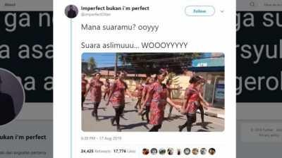 Bikin Ngakak! Viral Aksi Waria Ikut Baris-berbaris