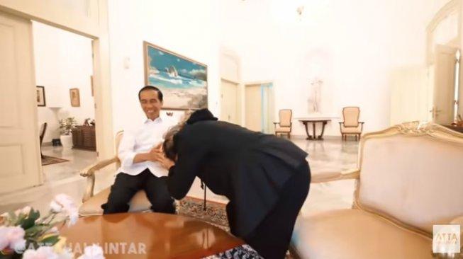 Atta Halilintar ke Istana, Jokowi: Kalau Mau Jadi Anak Keempat