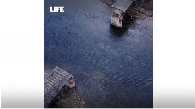 Buat Gempar, Jembatan 56 Ton di Rusia Raib Tanpa Jejak