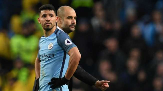 Guardiola Tegaskan Aguero dan Sterling Bertahan di Man City