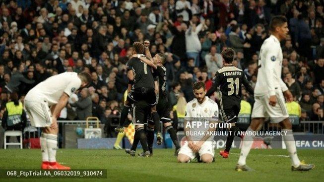 Juara Bertahan Tersingkir, Real Madrid Kalah 1-4 dari Ajax