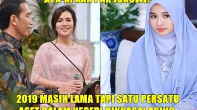 Kocak! Meme Jokowi Biarkan Raisa dan Bella Jatuh ke Tangan Asing