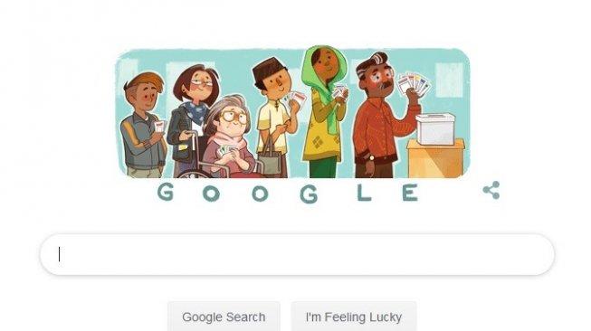 Google Doodle Ingatkan Pengguna untuk Mencoblos di Pemilu 2019