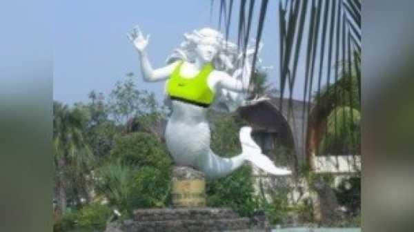 Viral! Banjir Kreativitas Patung Putri Duyung di Ancol ala Warganet