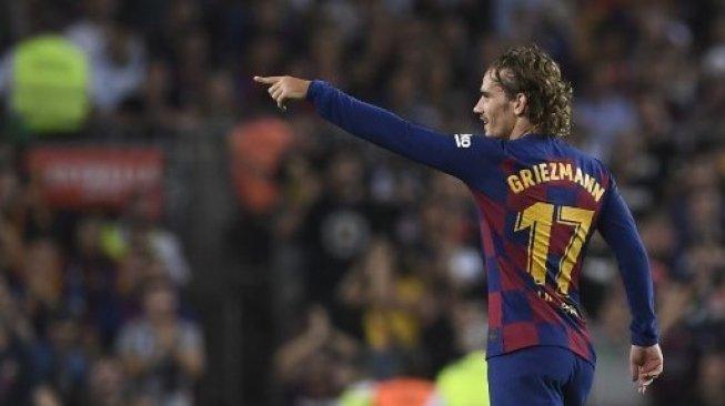 Tak Ada Messi dan Suarez, Griezman Jadi Penentu Permainan Barcelona