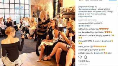 Wow, Pevita Pearce Dipotret Gigi Hadid!