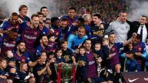 Bekuk Levante 1-0, Barcelona Juara Liga Spanyol!