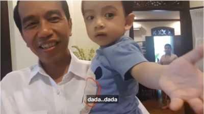 Balik ke Solo, Jokowi Unggah Vlog Keceriaan Bermain dengan Cucu