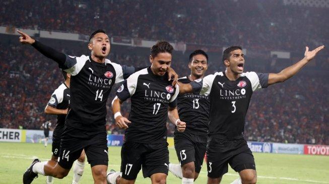 Home United Optimistis Pecundangi Persija di Stadion Jalan Besar