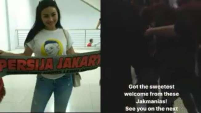 Jakmania Heboh Sambut Ariel Tatum di Stadion Cikarang
