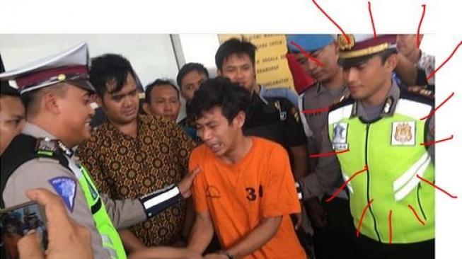Viral, Polisi Ganteng di Samping Adi Saputra Jadi Perbincangan Netizen !