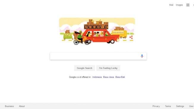 Tema Mudik Jadi Logo Google Hari Ini