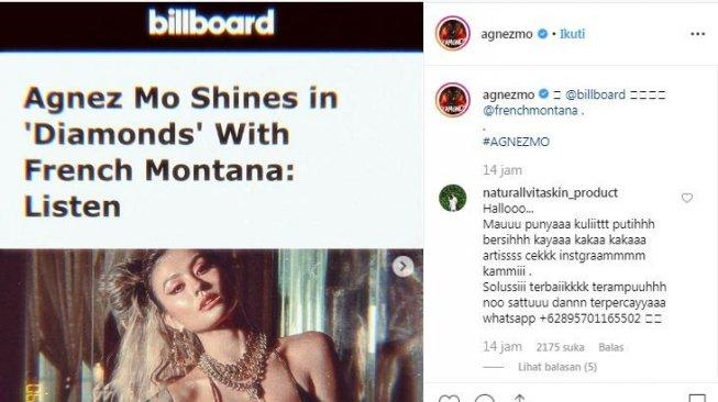 Diwawancara Billboard, Agnez Mo Curi Perhatian dengan Bra Louis Vuitton