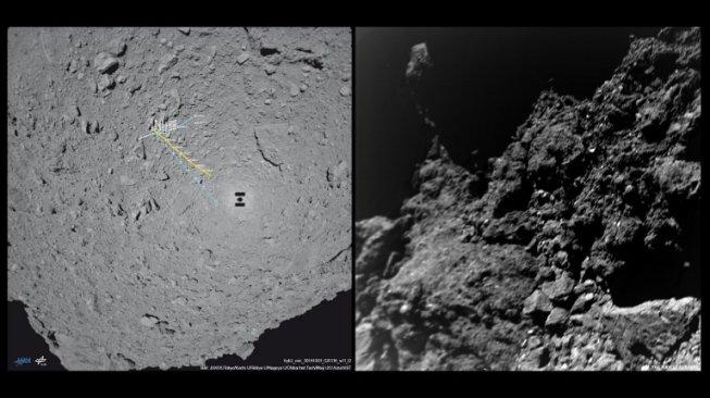 Satelit Jepang Berhasil Mendarat dan Tembak Asteroid Purba