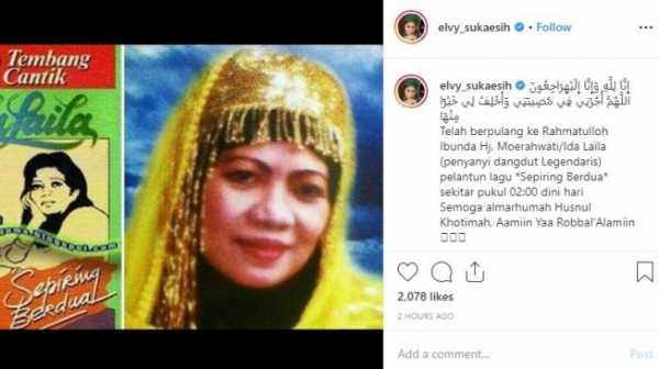 Penyanyi Dangdut Senior Ida Leman Meninggal Dunia