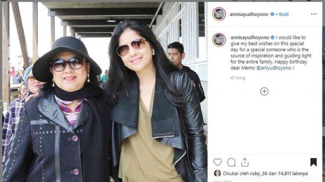 7 Momen Manis Annisa Pohan Bersama Ani Yudhoyono, Ngena Banget!