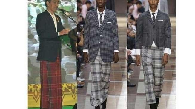 Presiden Bersarung, Jokowi Inspirasi Desainer Dunia