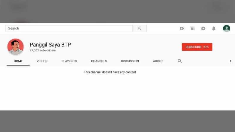 Belum Berkonten, Puluhan Ribu Netizen Serbu Youtube Ahok